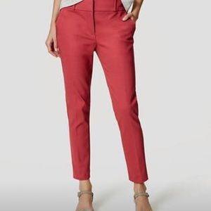 Pink Loft ankle pants